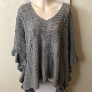 NWOT Anthropologie Moth Poncho Sweater $148 Boho